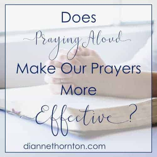Does praying aloud make our prayers more effective? Although helpful for focus, it is not the only way. The Bible gives many examples of how we are to pray.