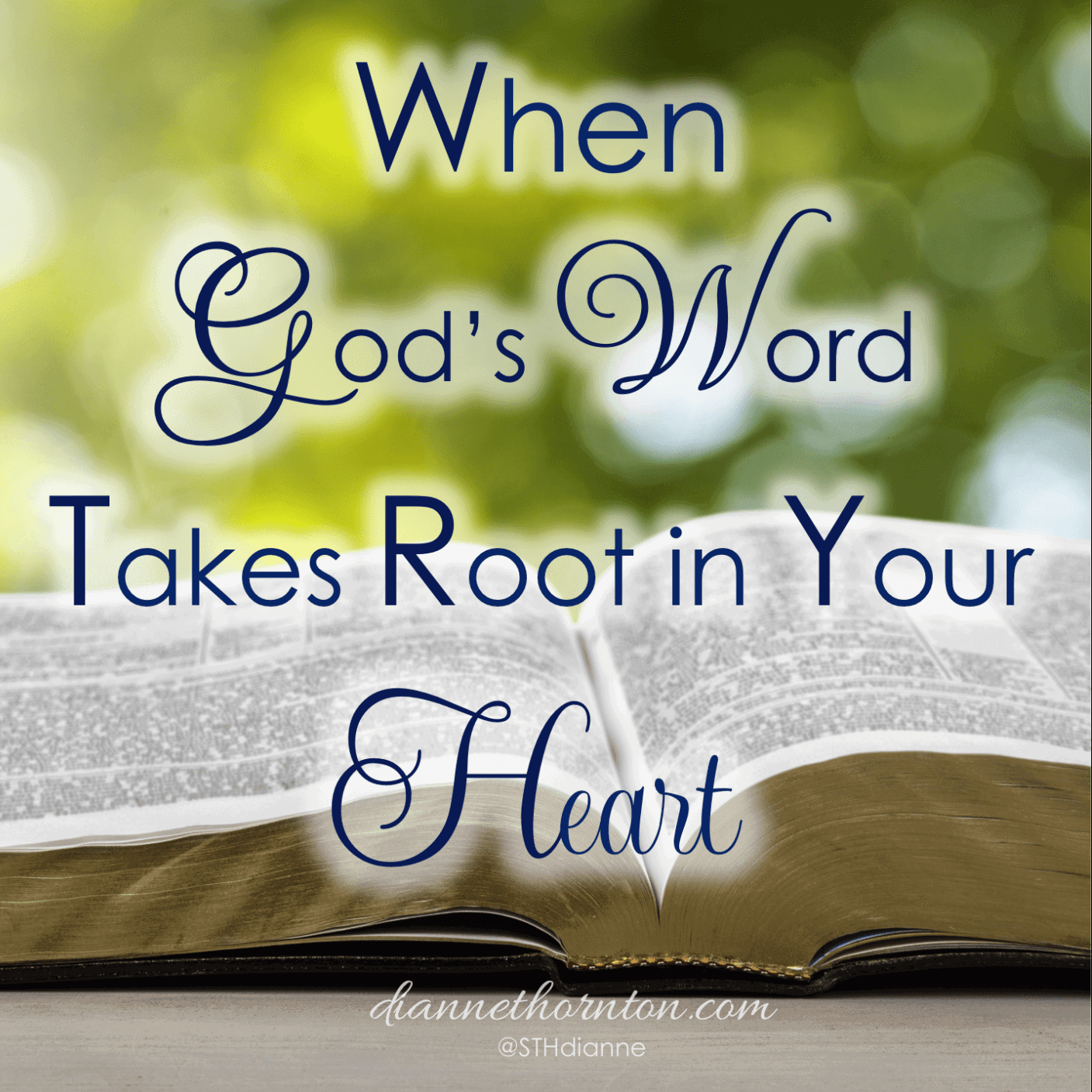 Do you have a favorite song or a treasured letter written by a loved one? This is treasure that takes root in your heart, and you will always remember it. When God's Word takes root in your heart, it becomes power to overcome sin.