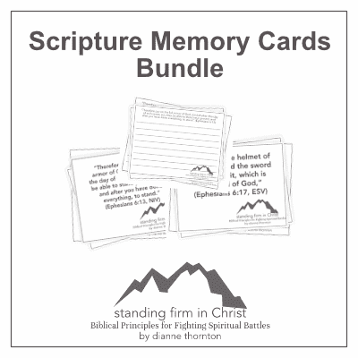 Standing Firm in Christ Scripture Memory Cards Bundle